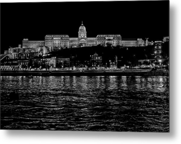 Buda Castle Over The Danube Metal Print