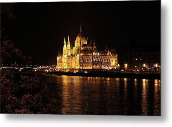 Budapest - Parliament Metal Print
