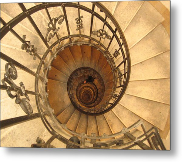 Budapest Staircase Metal Print