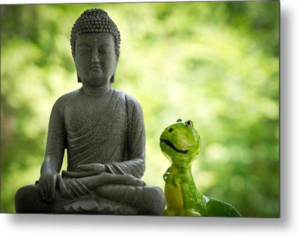 Buddha And Buddy Metal Print by Edward Myers
