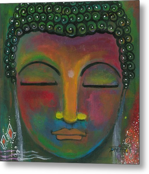 Metal Print featuring the painting Buddha Painting by Prerna Poojara