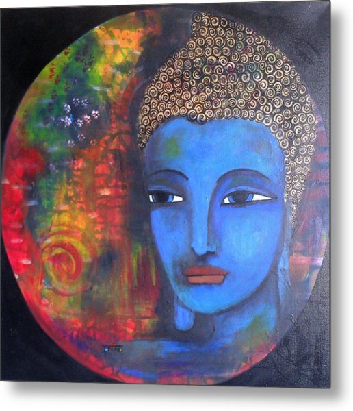 Buddha Within A Circular Background Metal Print