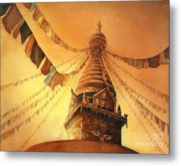 Buddhist Stupa- Nepal Metal Print