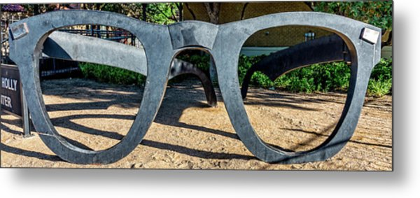Buddy Holly Glasses Metal Print