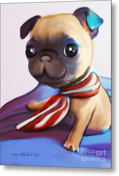 Buddy The Pug Metal Print