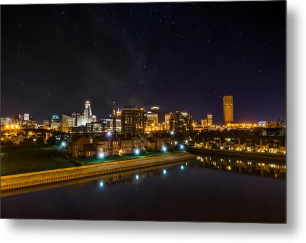 Buffalo Skyline Under The Stars Metal Print