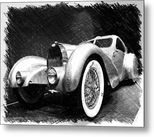Bugatti Type 57 Aerolithe Metal Print