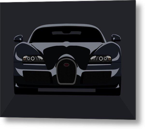 Bugatti Veyron Dark Metal Print by Michael Tompsett