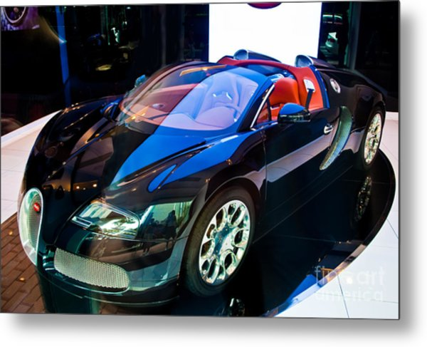 Bugatti Veyron Targa Metal Print