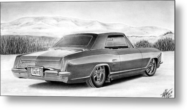 Buick In The Weeds 2 Metal Print by Lyle Brown