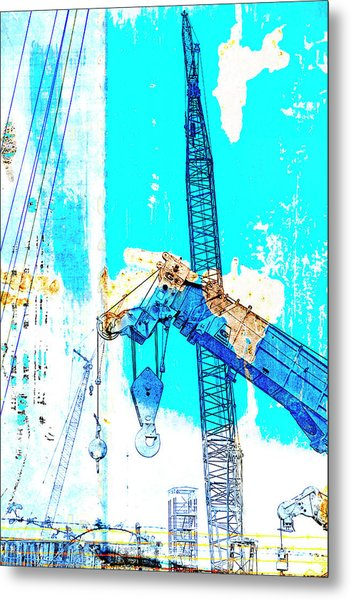 Building Boats Metal Print