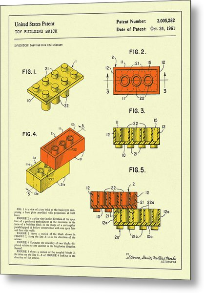 Building Bricks 1961 Metal Print