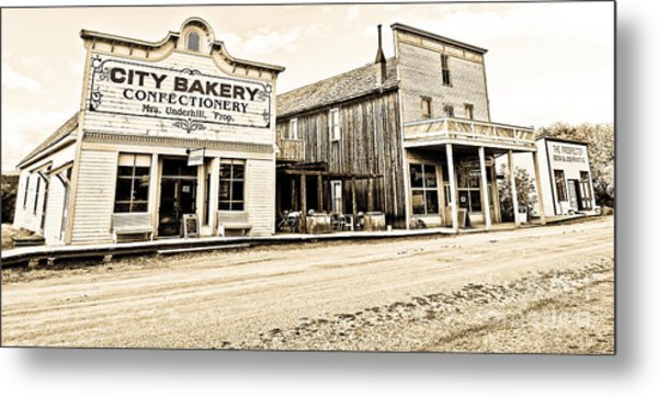 Buildings In The Eighteen Hundreds Town Of Fort Steele Bc Canada Metal Print by Emilio Lovisa