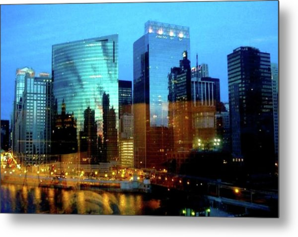 Reflections On The Canal Metal Print