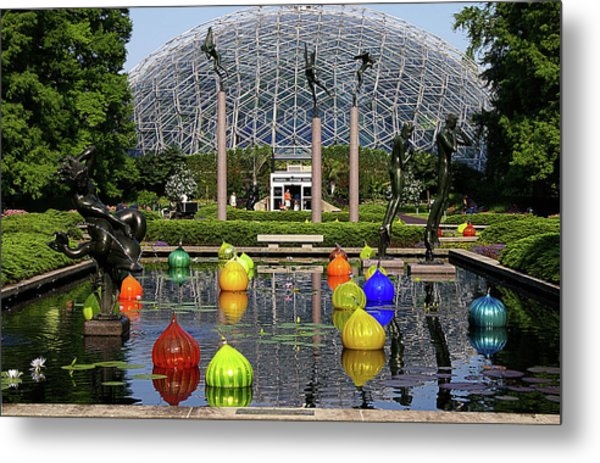 Bulbs On The Pond Metal Print by George Basden