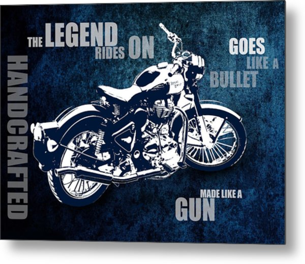 Bullet Blues With Caption Metal Print