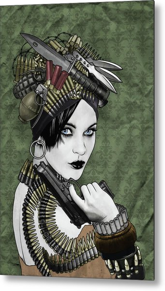 Bullets Is My Business Metal Print