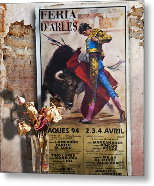 Bullfighter With Roses Metal Print by Larry Butterworth