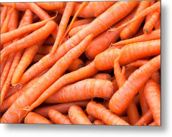 Bunch Of Carrots Metal Print