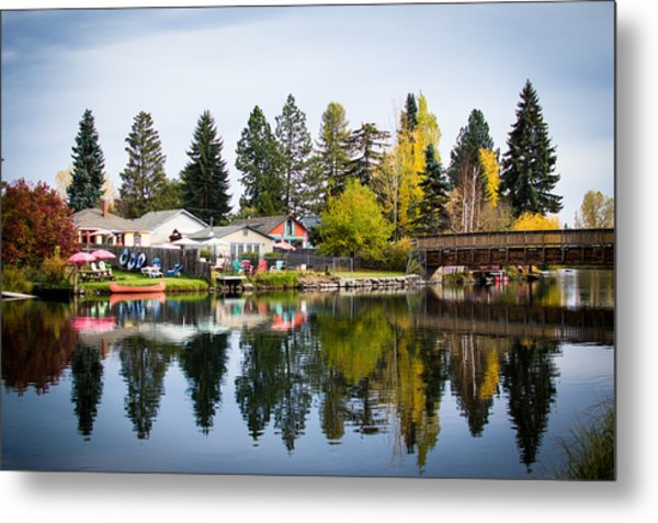bungalows on the Deschutes Metal Print