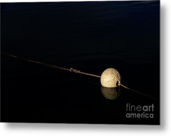 Metal Print featuring the photograph Buoy At Night by Stephen Mitchell