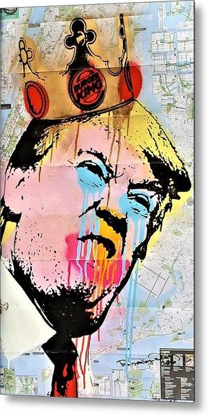 Metal Print featuring the photograph Burger King Trump by Rob Hans