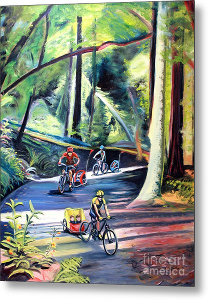 Burley Bike Parade On Shaver Grade Metal Print by Colleen Proppe