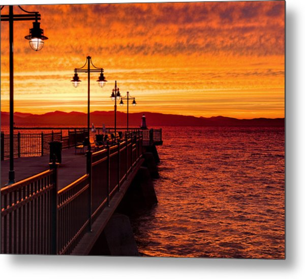 Burlington Sunset Metal Print