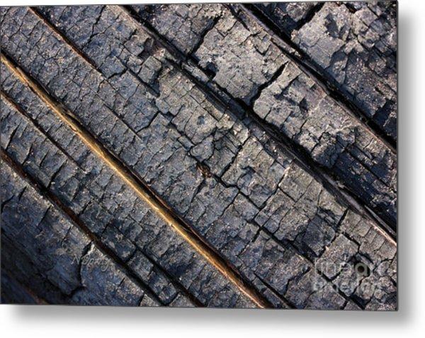 Burnt Bark Metal Print