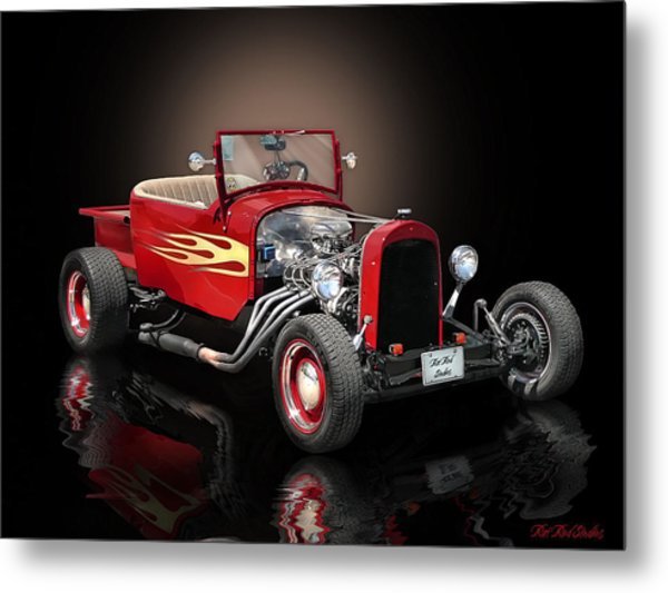 Burnin' Up The Back Streets Tearin' Up The Town Metal Print by Rat Rod Studios