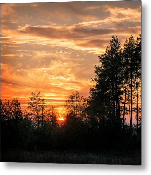 Burning Sunset. Horytsya, 2014. Metal Print