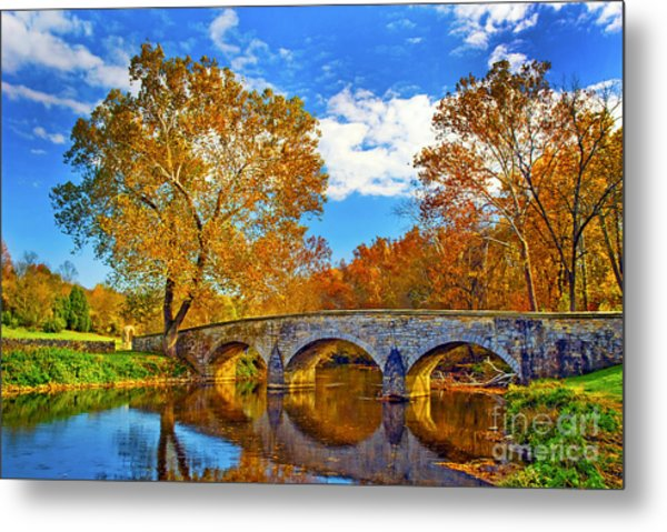 Burnside Bridge At Antietam Metal Print