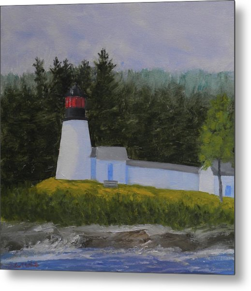 Burnt Island Light Metal Print