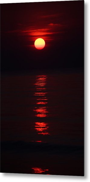 Burnt Orange Sunrise Metal Print