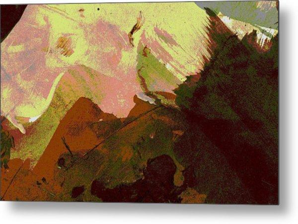 Burnt Sienna Mountains Metal Print