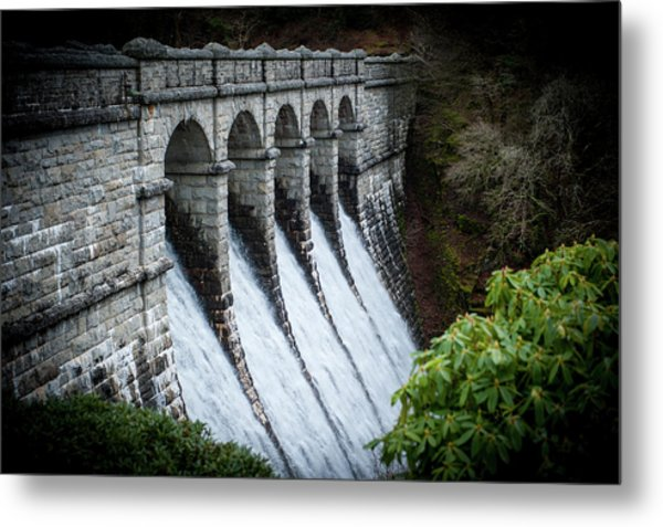 Burrator Reservoir Dam Metal Print