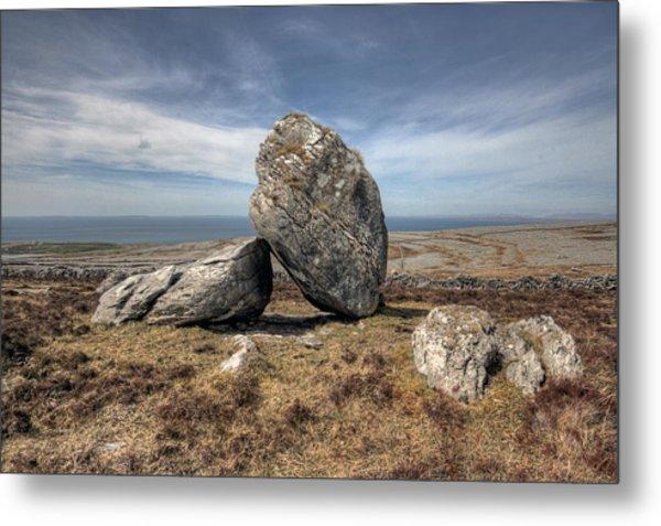 Burren Boulders Metal Print by John Quinn