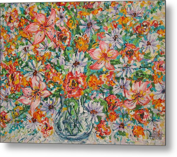 Burst Of Flowers Metal Print