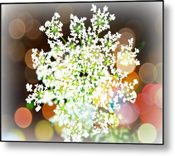 Burst Of Light Kaleidoscope Metal Print