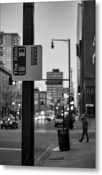 Metal Print featuring the photograph Bus Stop by Philip Rodgers