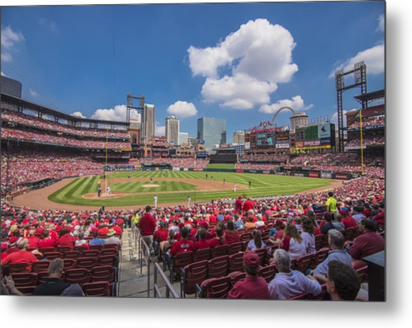 Busch Stadium St. Louis Cardinals Cardinal Nation Ballpark Village Day #2a Metal Print