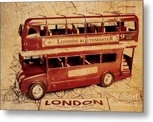 Buses Of Vintage England Metal Print