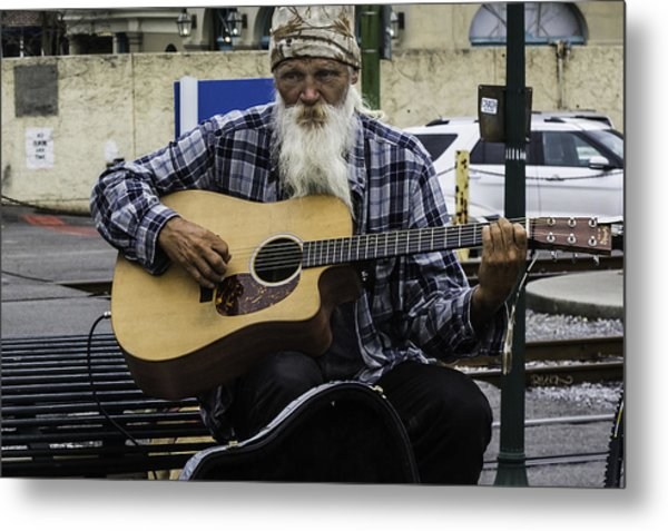 Busking In New Orleans, Louisiana Metal Print