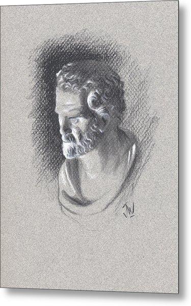 Metal Print featuring the drawing Bust 473 by Joe Winkler