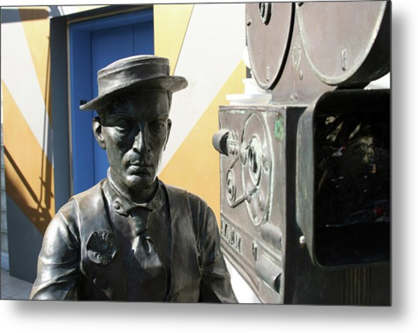 Buster Keaton On Camera Metal Print