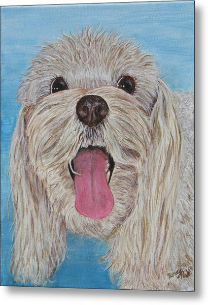 Metal Print featuring the painting Buster by Nancy Nale