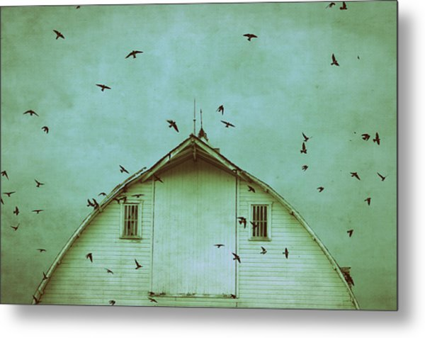 Busy Barn Metal Print