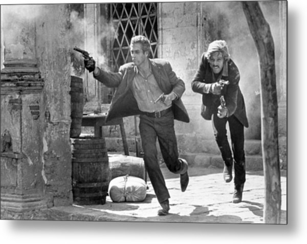 Butch Cassidy And The Sundance Kid - Newman And Redford Metal Print