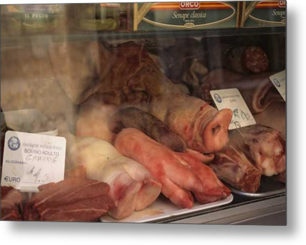 Butcher's Shop In Venice Metal Print by Michael Henderson