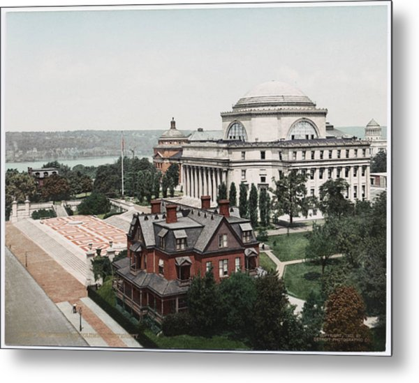 Butler Library At Columbia University Metal Print